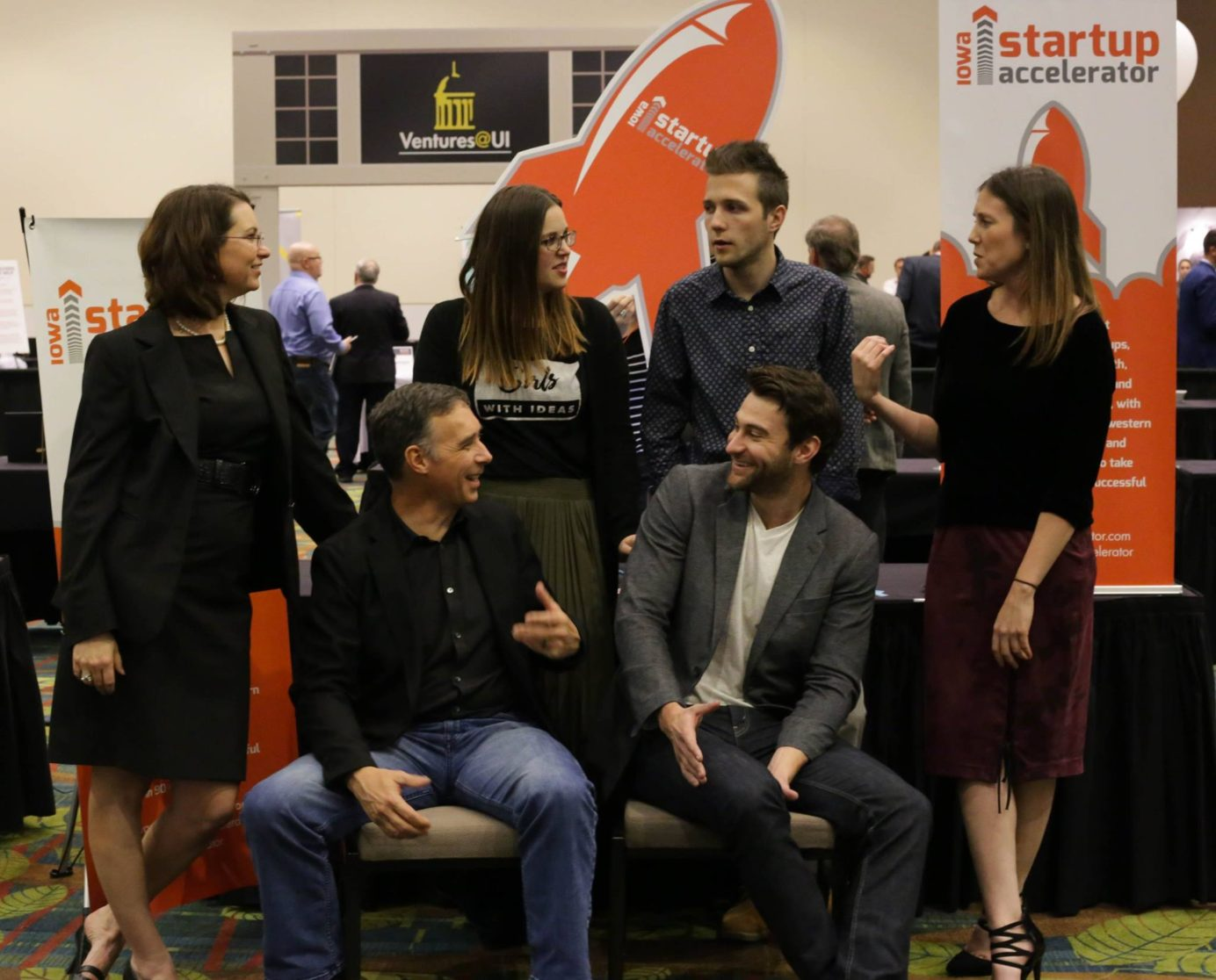 Iowa Startup Accelerator 2016 cohort CEO's at the Innovation Expo
