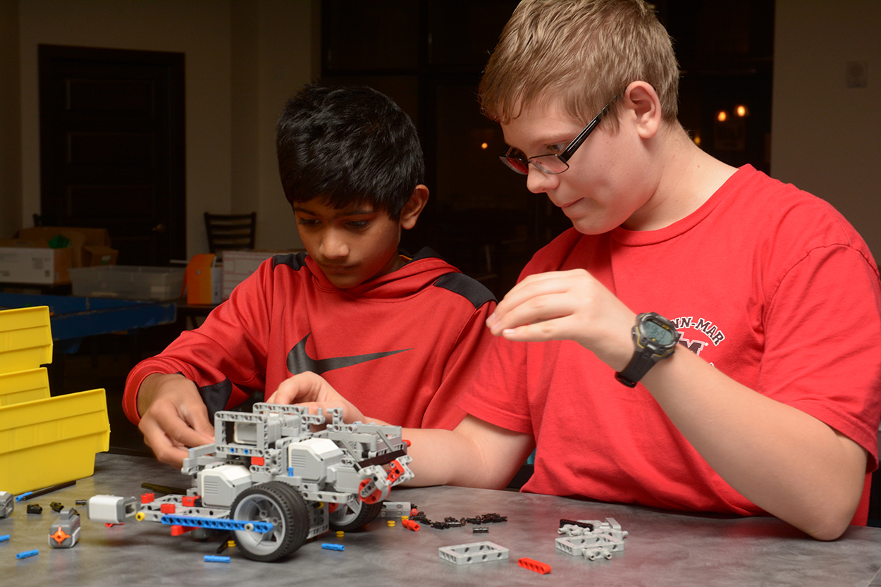 Teamwork is critical for FLL; almost all work is done in teams of 2 or more.