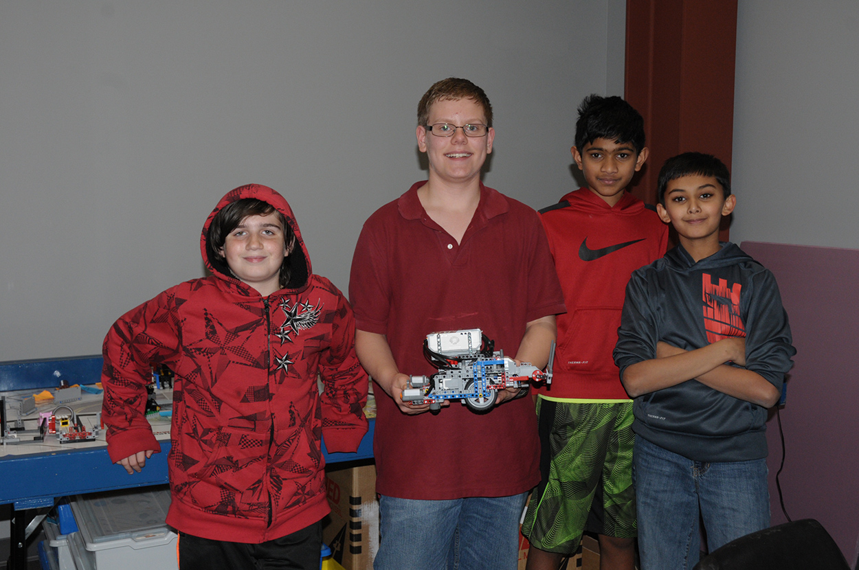 Team Red Dangerous showing off their latest robot build