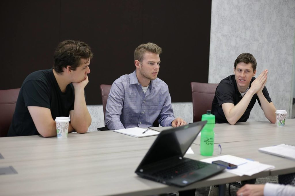 ISA Summer Batch Team, GOVRED Technologies in a mentor meeting.