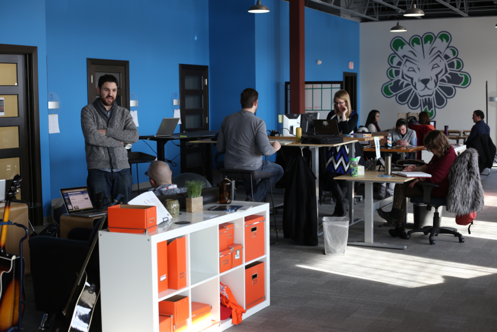 A picture of people working in Vault Coworking and Collaboration Space