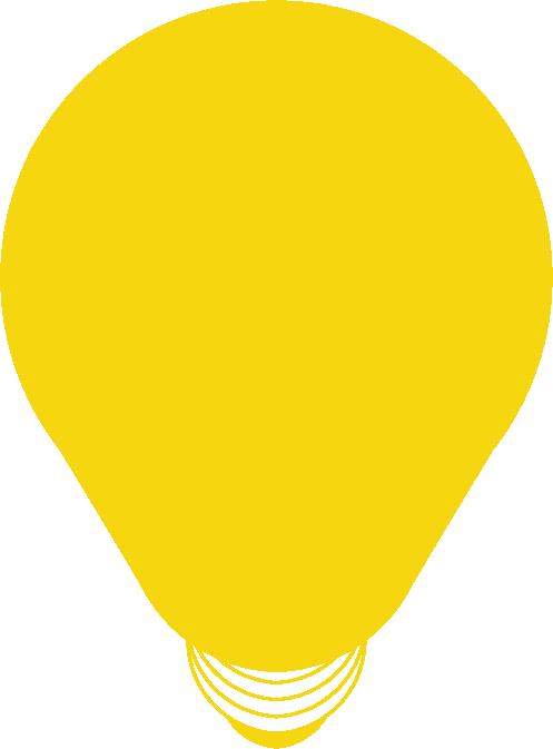 NewBoCo yellow lightbulb of innovation icon